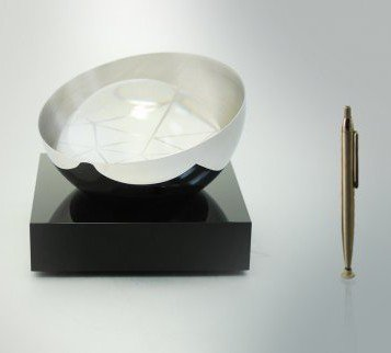 GLASS ART: BlackChrome Crystal