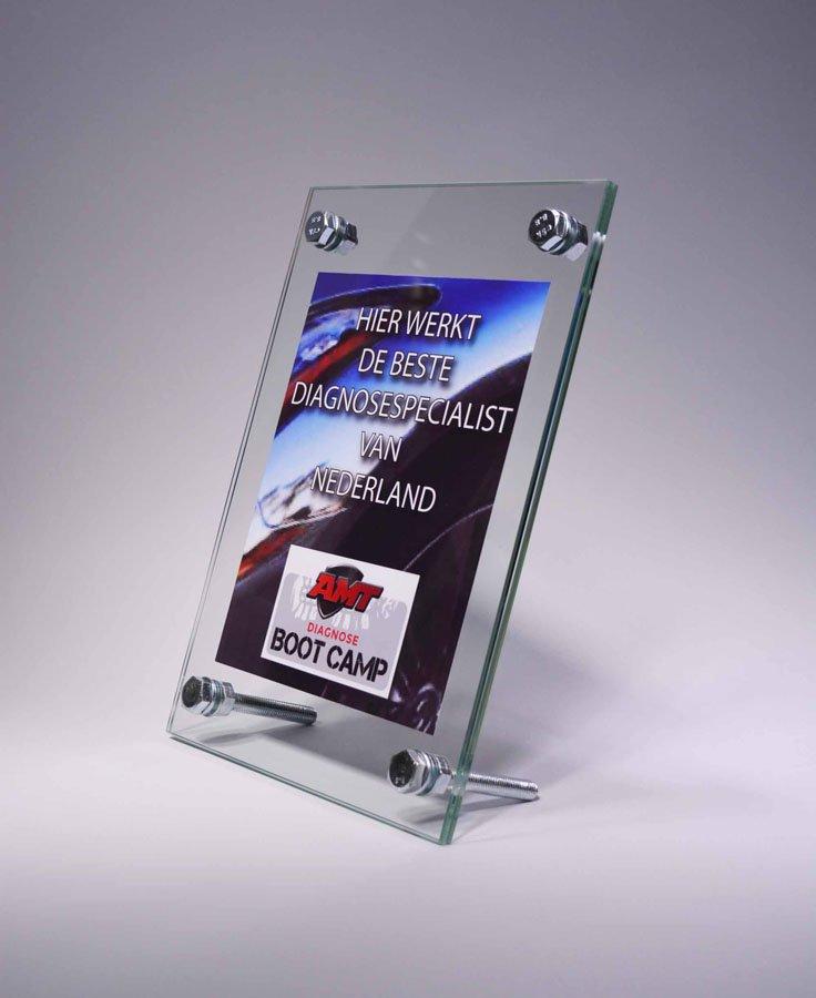 OFFICE ITEMS: GLAZEN TAFEL STANDAARD A4 LIGGEND