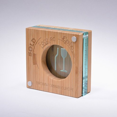 AWARD CONCEPTS: BROWN-FORMAN AWARD GLASS & WOOD LUXE