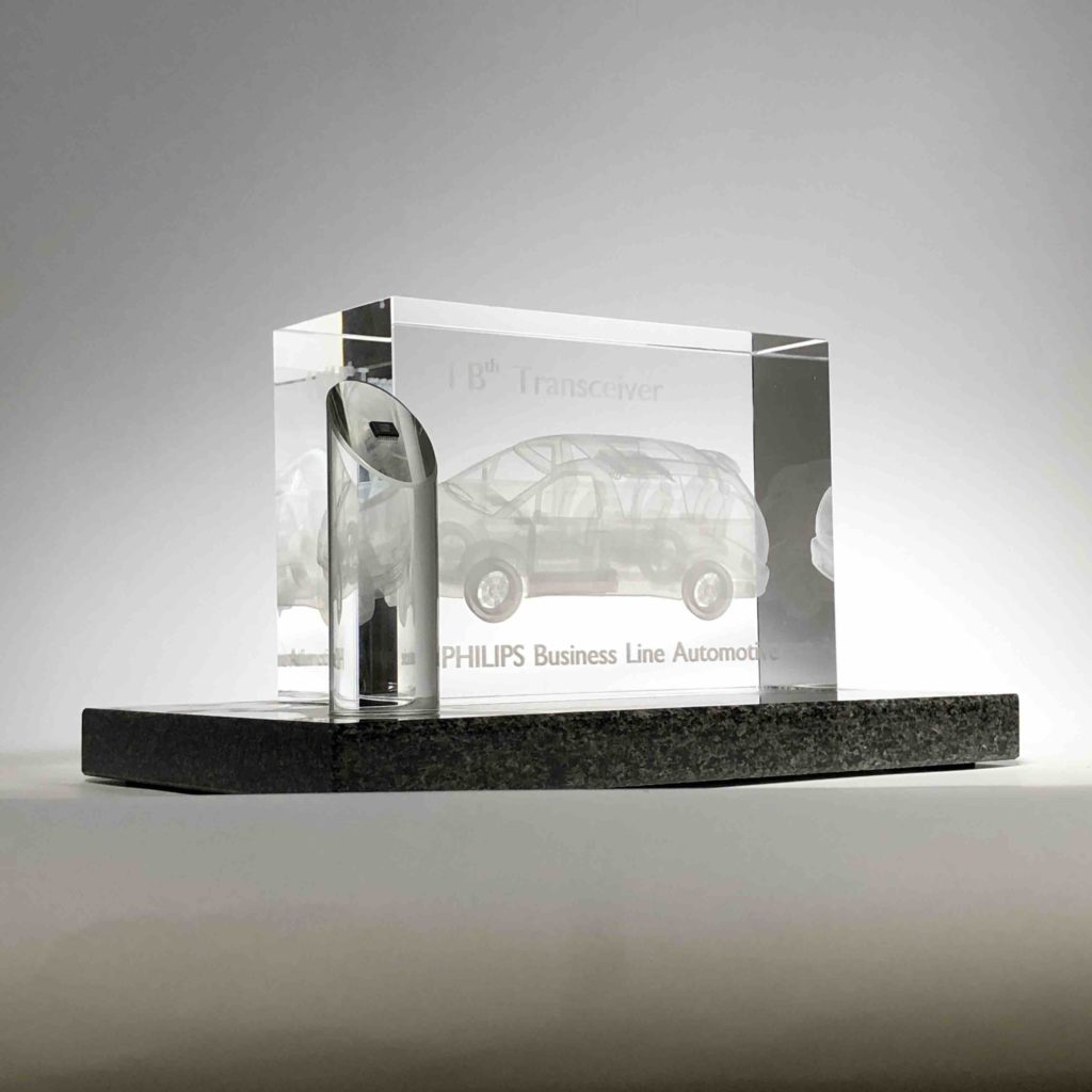 3D lasergifts: Philips Automotive 1Bth Chip